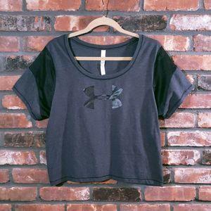 Under Armour Pretty Gritty Big Logo Crop T-shirt